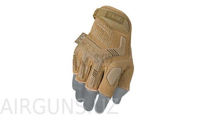 MECHANIX M-PACT FINGERLESS COYOTE GLOVES