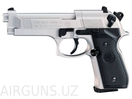 BERETTA M92 FS NICKEL BLACK