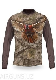 PHEASANT 3D  T-SHIRT LONG SLEEVE