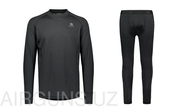 Alaska CoolDry Ms Base Layer Set, Black