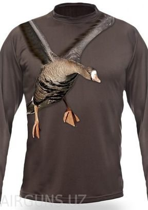 WHITE FRONT GOOSE 3D T-SHIRT LONG SLEEVE