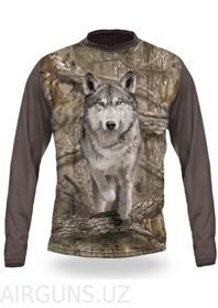 WOLF RUNS 3D T-SHIRT LONG SLEEVE